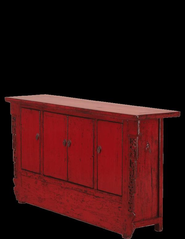 oud-chinees-dressoir-oosterse-meubelen-chinese-meubels-luxe-exclusieve-meubels-rood schuin afstand
