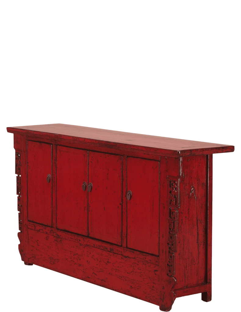 oud-chinees-dressoir-oosterse-meubelen-chinese-meubels-luxe-exclusieve-meubels-rood schuin afstand