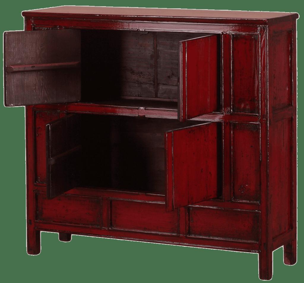 oude-chinese-kast-tibet-oosterse-meubelen-chinese-meubels-open deur