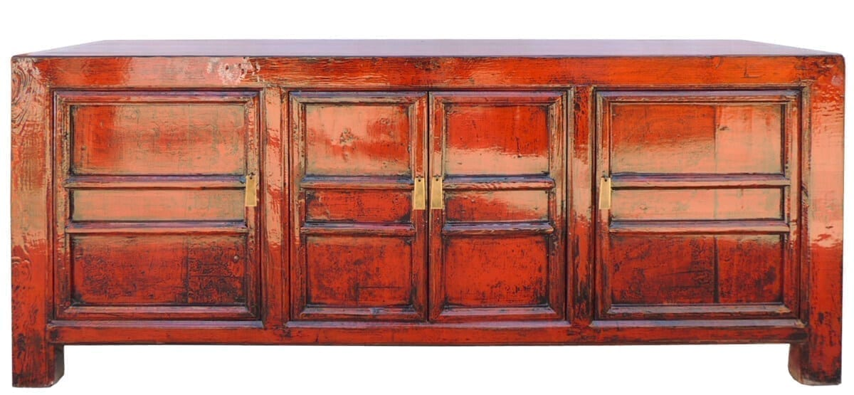 unieke oude chinese kast rood vookant