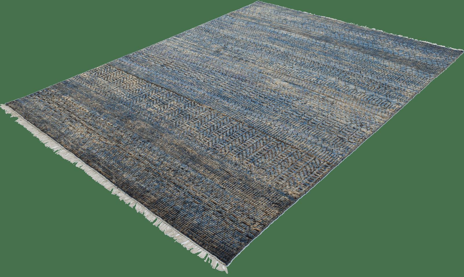 sari-silk-tribal-blue-tapijt-moderne-tapijten-handgeknoopte-design-exclusieve-luxe-vloerkleden-koreman-maastricht
