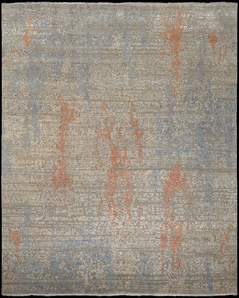 Riviera-mural-orange-blue-design-luxe-design-moderne-exclusieve-design-tapijten-zijde-koreman-maastricht