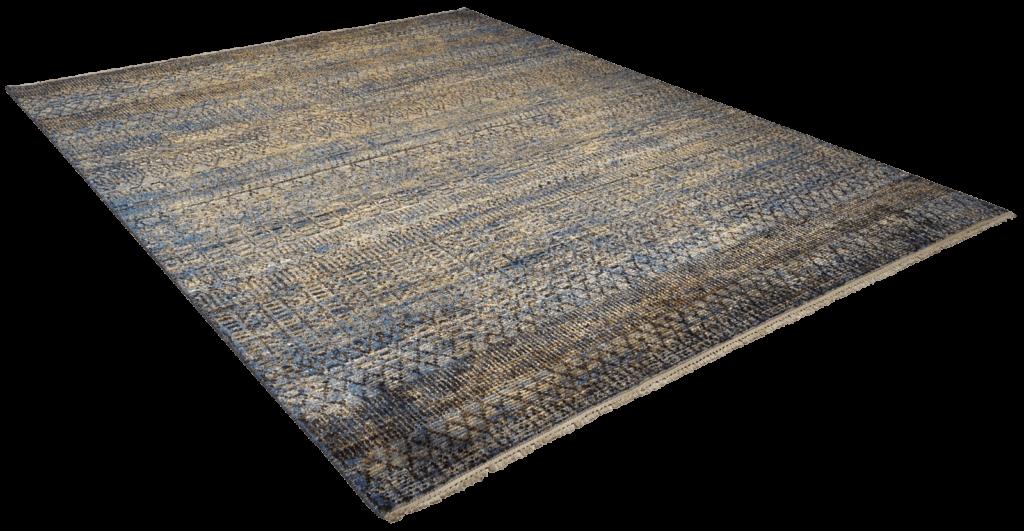 sari-silk-design-gold-blue-tapijt-moderne-tapijten-handgeknoopte-design-exclusieve-luxe-vloerkleden-koreman-maastricht